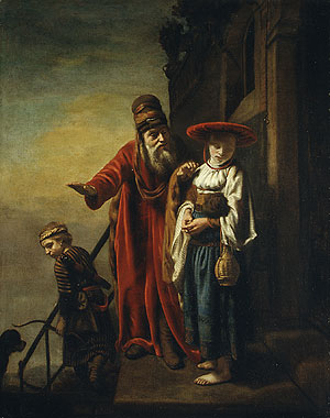 Abraham Dismissing Hagar and Ishmael 1653 | Nicolaes Maes | Oil Painting