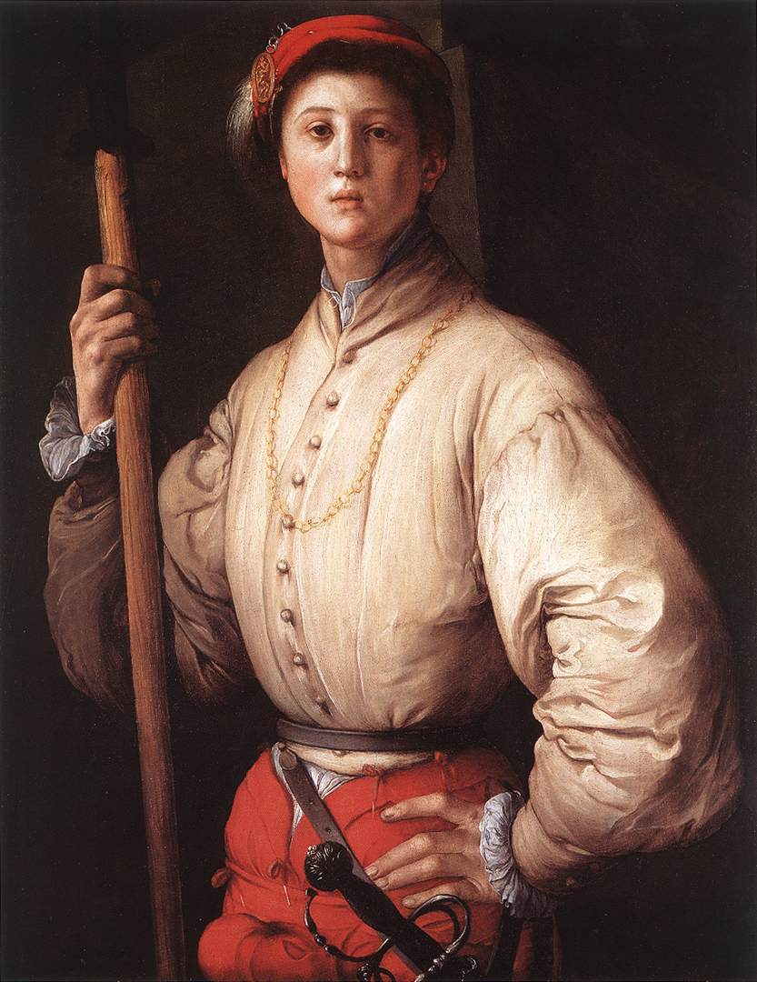 Halberdier 1530s | Jacopo Pontormo | Oil Painting
