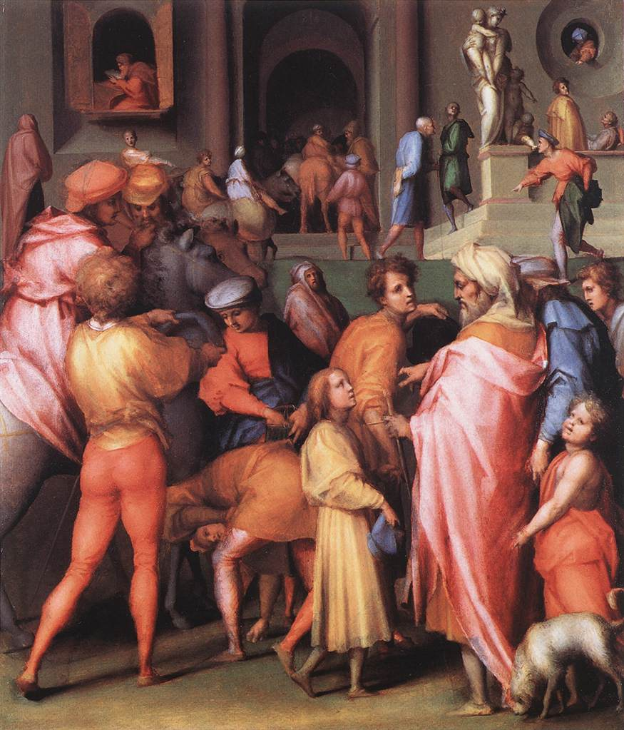 Joseph Being Sold To Potiphar 1515-18 | Jacopo Pontormo | Oil Painting