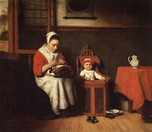 The Lacemaker 1665 | Nicolaes Maes | Oil Painting