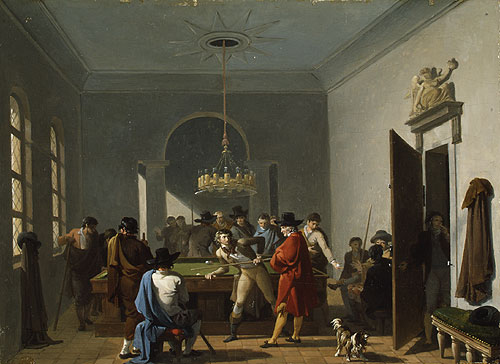 The Billiard Room | Nicolas Antoine Taunay | Oil Painting