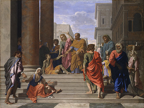 Saints Peter and John Healing the Lame Man 1655 | Nicolas Poussin | Oil Painting