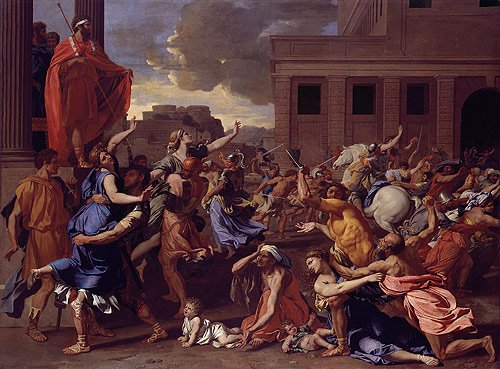 The Abduction of the Sabine Women probably 1633 | Nicolas Poussin | Oil Painting