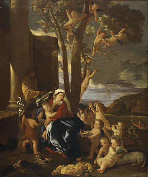 The Rest on the Flight into Egypt ca 1627 | Nicolas Poussin | Oil Painting