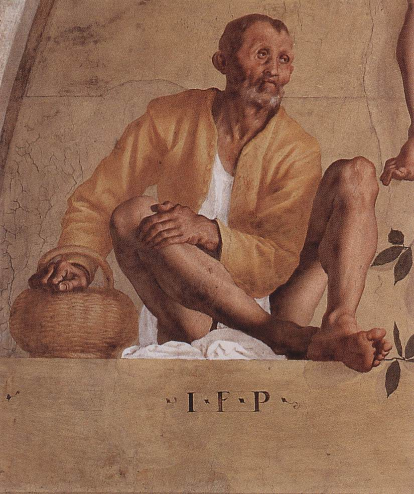 Vertumnus And Pomona Detail III 1519-21 | Jacopo Pontormo | Oil Painting