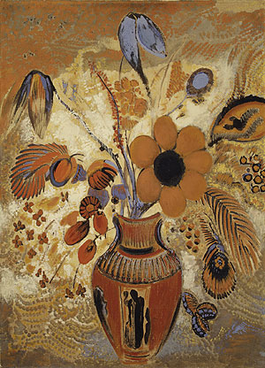 Etruscan Vase with Flowers | Odilon Redon | Oil Painting
