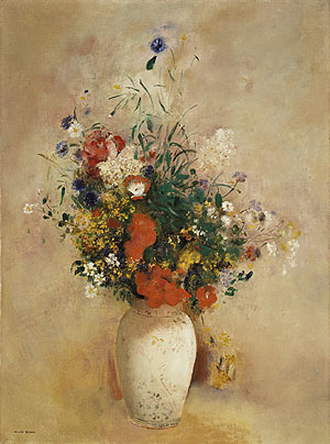Flowers in a Chinese Vase ca. 1906 | Odilon Redon | Oil Painting