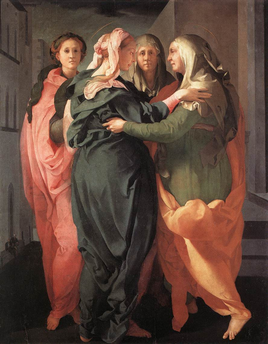 Visitation 1528-29 | Jacopo Pontormo | Oil Painting