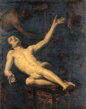 The Martyrdom of Saint Lawrence | Jacopo Vignali | Oil Painting