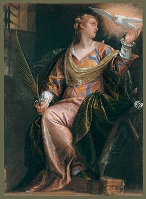 Saint Catherine of Alexandria in Prison ca 1580 | Paolo Veronese | Oil Painting