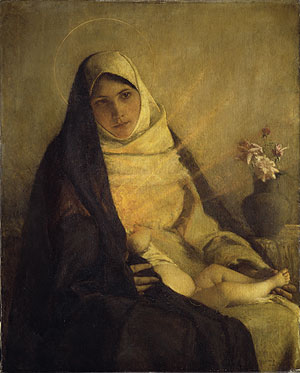 Madonna of the Rose 1885   Pascal Adolphe Jean Dagnan Bouveret   Oil Painting