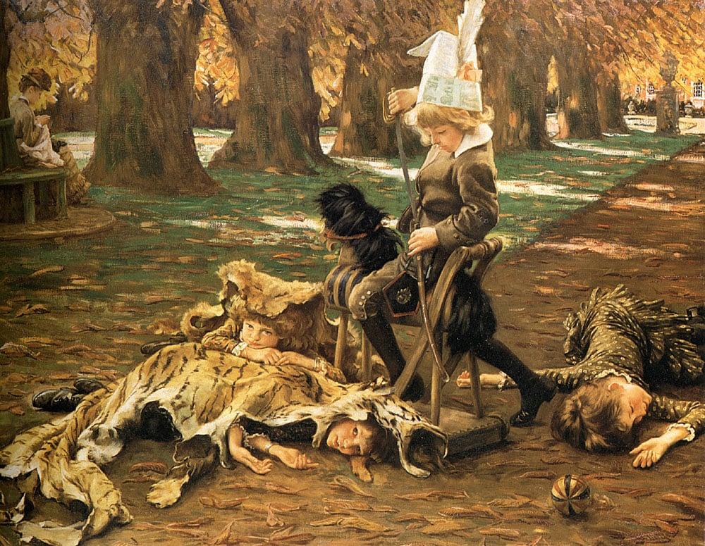 A Little Nimrod | Jacques Joseph Tissot | Oil Painting