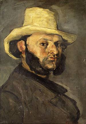 Gustave Boyer in a Straw Hat | Paul Cezanne | Oil Painting