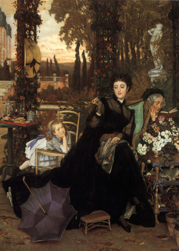 A Widow   Jacques Joseph Tissot   Oil Painting