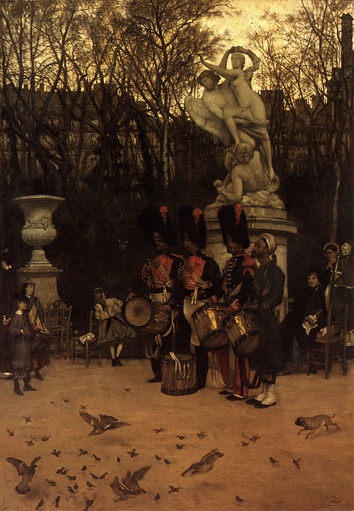 Beating the Retreat in the Tuileries Gardens | Jacques Joseph Tissot | Oil Painting