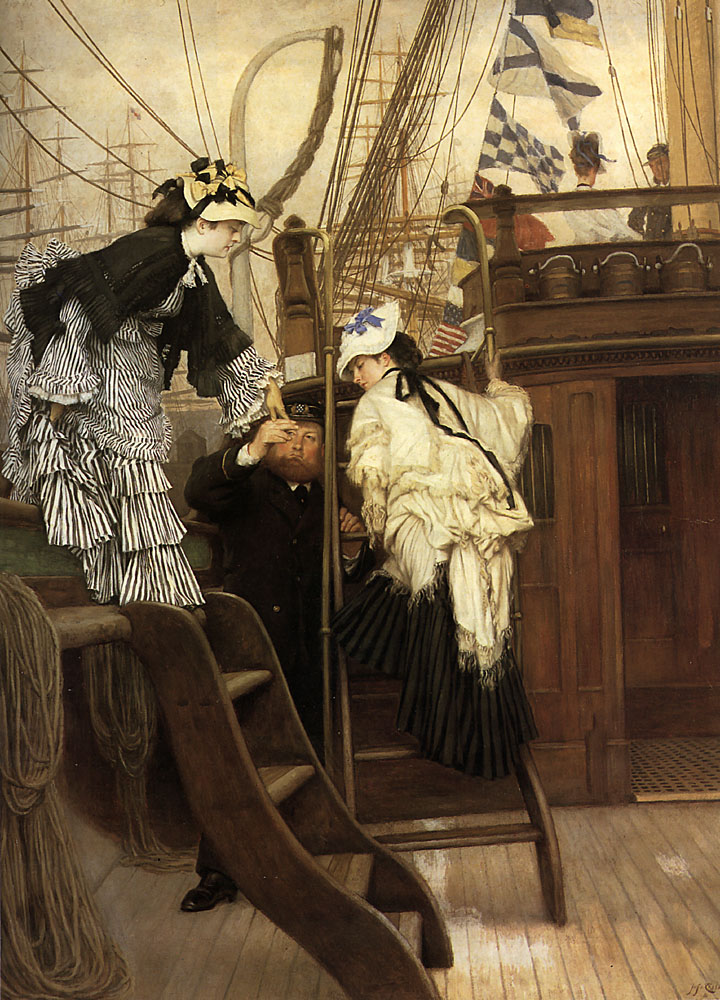 Boarding the Yacht | Jacques Joseph Tissot | Oil Painting