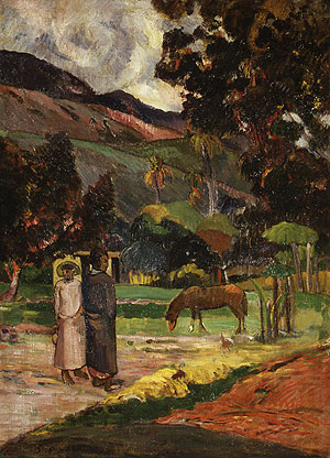 Tahitian Landscape | Paul Gauguin | Oil Painting