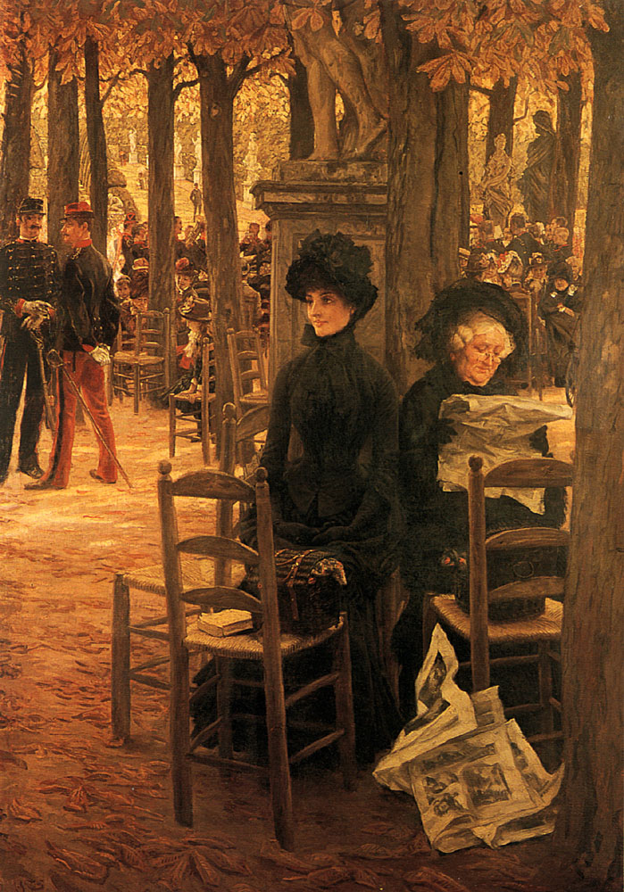 Letter L with Hats | Jacques Joseph Tissot | Oil Painting