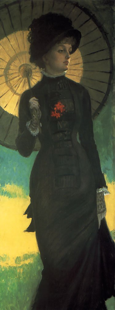 Mrs Newton with a Parasol | Jacques Joseph Tissot | Oil Painting
