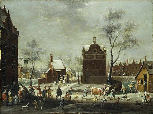 A Winter Carnival in a Small Flemish Town | Peeter Gysels | Oil Painting