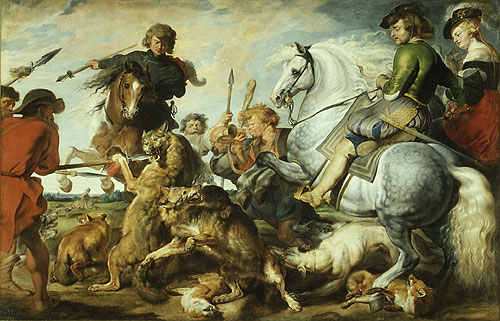 Wolf and Fox Hunt ca 1615 | Peter Paul Rubens | Oil Painting