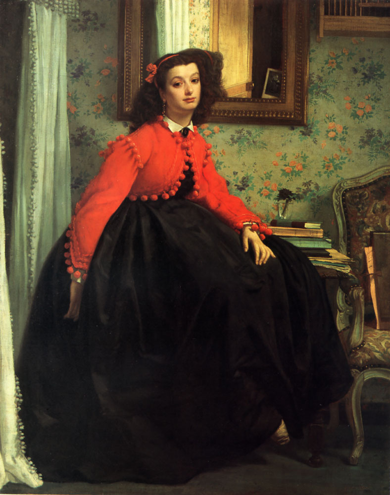 Portrait of Mlle L L | Jacques Joseph Tissot | Oil Painting