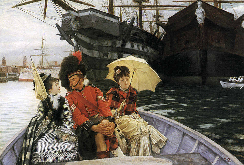 Portsmouth Dockyard | Jacques Joseph Tissot | Oil Painting