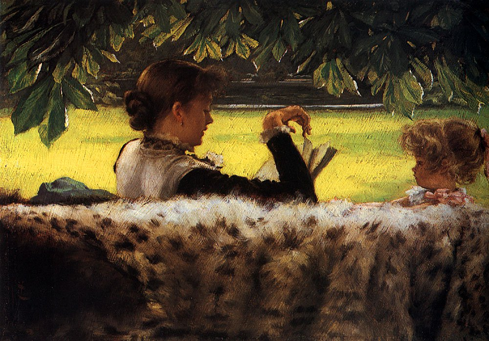Reading a Story | Jacques Joseph Tissot | Oil Painting