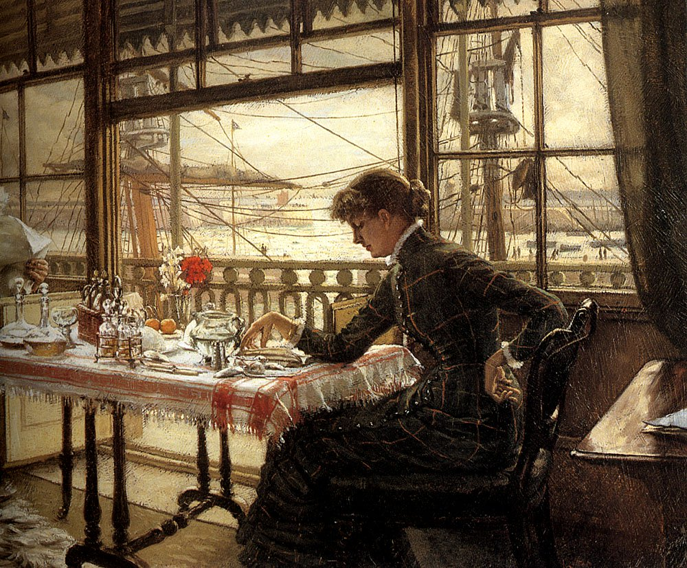 Room Overlooking the Harbour | Jacques Joseph Tissot | Oil Painting