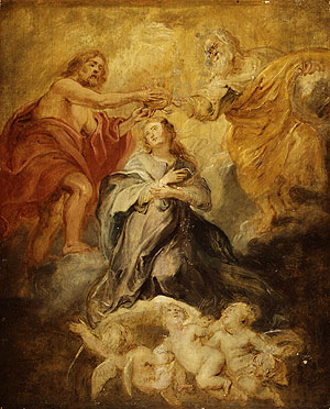 The Coronation of the Virgin sketch | Peter Paul Rubens | Oil Painting