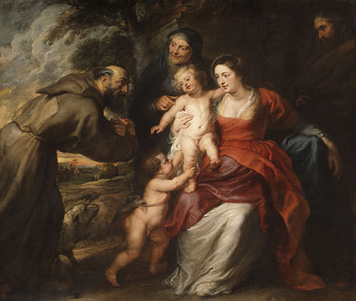 The Holy Family with Saints Francis and Anne and the Infant Saint John the Baptist probably early 1630s | Peter Paul Rubens | Oil Painting