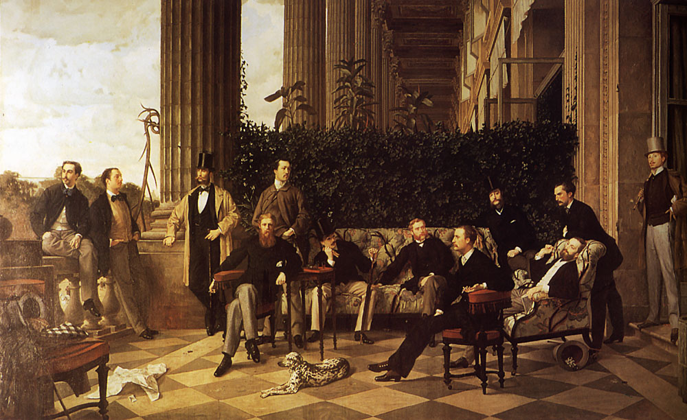 The Circle of the Rue Royale | Jacques Joseph Tissot | Oil Painting