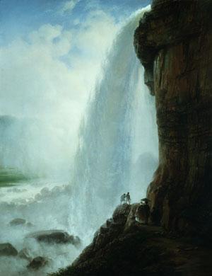Underneath Niagara Falls 1862 | Ferdinand Richardt | Oil Painting