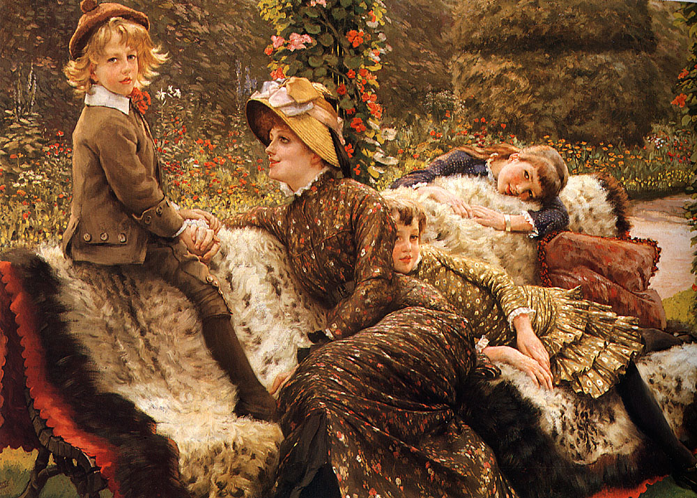 The Garden Bench | Jacques Joseph Tissot | Oil Painting