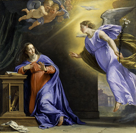 The Annunciation ca 1644 | Philippe de Champaigne | Oil Painting