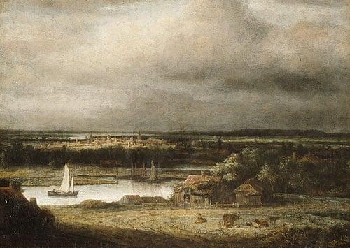 Wide River Landscape ca 1648 | Philips Koninck | Oil Painting