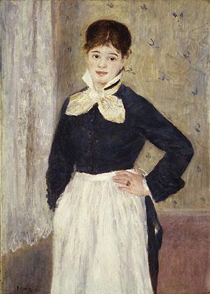 A Waitress at Duval's Restaurant ca. 1875   Pierre Auguste Renoir   Oil Painting