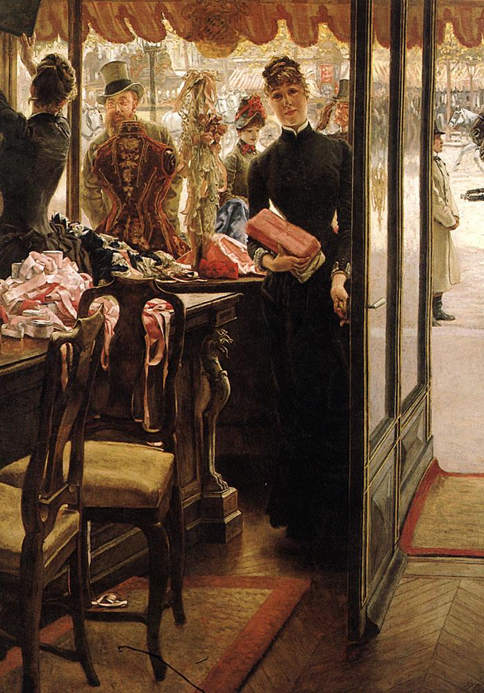 The Shop Girl | Jacques Joseph Tissot | Oil Painting