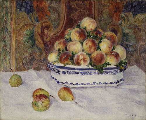 Still Life with Peaches 1881 | Pierre Auguste Renoir | Oil Painting