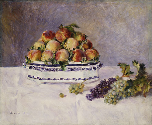 Still Life with Peaches and Grapes 1881 | Pierre Auguste Renoir | Oil Painting