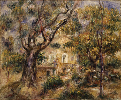 The Farm at Les Collettes Cagnes | Pierre Auguste Renoir | Oil Painting