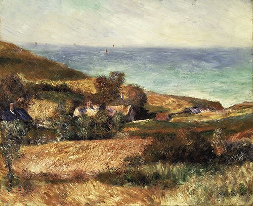 View of the Seacoast near Wargemont in Normandy 1880 | Pierre Auguste Renoir | Oil Painting