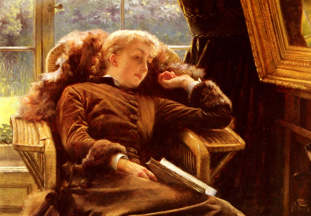 Kathleen Newton In An Armchair | Jacques Joseph Tissot | Oil Painting