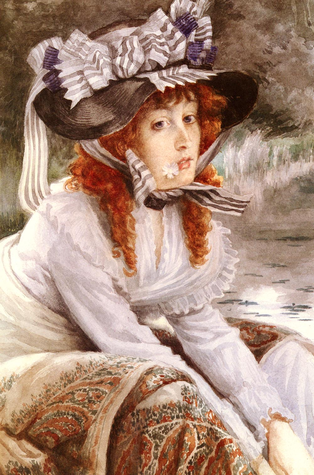 On The River | Jacques Joseph Tissot | Oil Painting
