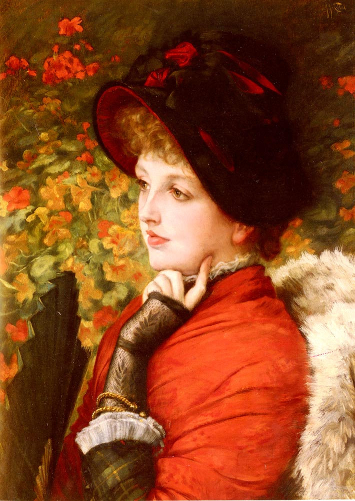 Type Of Beauty | Jacques Joseph Tissot | Oil Painting