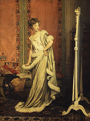Before the Mirror 1873 | Pierre Paul en Glaize | Oil Painting