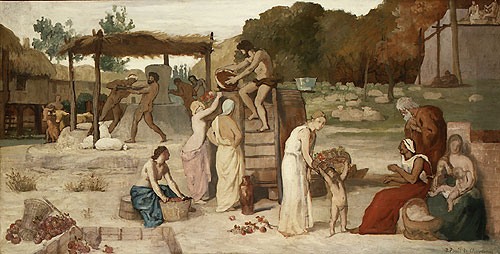 Cider study before 1865 | Pierre Puvis de Chavannes | Oil Painting