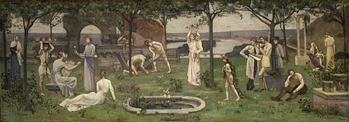Inter artes et naturam (Between Art and Nature) | Pierre Puvis de Chavannes | Oil Painting