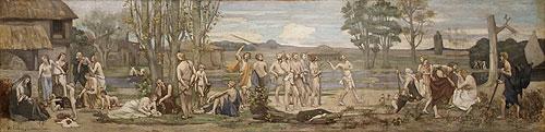 Ludus pro patria (Patriotic Games) | Pierre Puvis de Chavannes | Oil Painting
