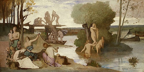 The River study before 1865 | Pierre Puvis de Chavannes | Oil Painting